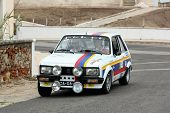 Foz Do Arelho, Portugal - May 13: Carla Jeronimo Drives A Peugeot 104 Zs During Rally Sprint Foz Do