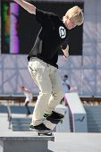 MOSCOW, RUSSIA - JULY 8: Florian Westers, Germany, in skateboard competitions during Adrenalin Games in Moscow, Russia on July 8, 2012