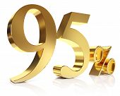 Ninety five percent 3D in gold