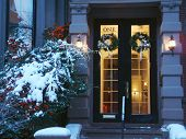 Boston Door In Winter