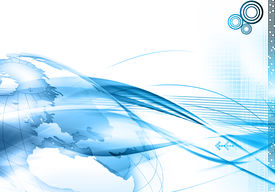 picture of world-globe  - Technology abstract background with world in blue - JPG