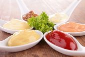 collection of dips, sauce