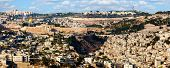 High point view over Jerusalem, Israel