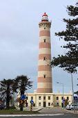 Lighthouse Of Aveiro In Praia Da Barra