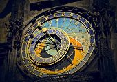 stock photo of pendulum clock  - astronomical clock in Prague - JPG