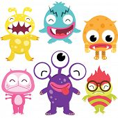 Dom schattig Monsters Set