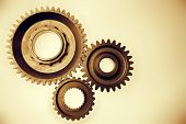 Metal cog gears bonding together