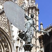 The Giraldillo - famous weathervane (16th century),  symbol of Sevilla