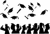 pic of graduation cap  - Group of people who have graduated from their different learning fields - JPG