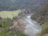 stock photo of klamath  - Oddly the Trinity River in Northern California flows north to reach the ocean - JPG