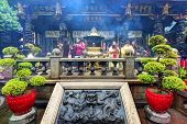 TAIPEI, TAIWAN - JANUARY 12: Worshippers at Longshan Temple January 12, 2013 in Taipei, TW. The temp