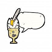 egg in eggcup cartoon character