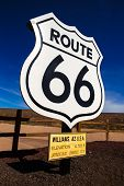 Route 66 road sign in Williams Arizona USA