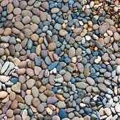 Round Peeble Stones Background