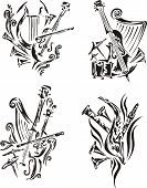 Stylized Music Emblems - Symphony
