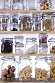 picture of legume  - Small Pantry Housewife Containing Necessary To Cook - JPG
