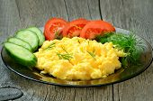 Omelet With Herbs And Vegetables