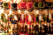 stock photo of nutcrackers  - the Nutcracker souvenirs on a Christmas Market - JPG