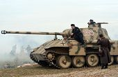 Kiev, Ukraine - November 3: JGerman tank (replica) is displayed on the Field of Battle military history festival on November 3 , 2013 in Kiev, Ukraine