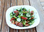 Summery vegetable salad