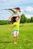 Laughing Girl With Kite