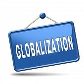 stock photo of international trade  - globalization global open market international worldwide trade and economy - JPG