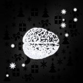 Noble Brain Symbol With Stars