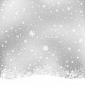 winter gray background