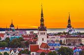 stock photo of olaf  - Skyline of Tallinn - JPG