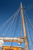 Masts And Sails Of A Tall Sailing Ship