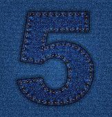 Jeans alphabet number 5