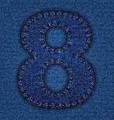 Jeans alphabet number 8
