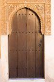 Islamic Art, Arab Doorway - Alhambra Palace