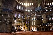 Interior of the Sultan Ahmed Mosque ISTANBUL - November, 21