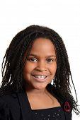 portrait little black girl smiling