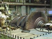 Steam Turbine During Repair, Night Scene