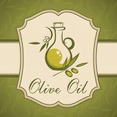 Olive oil. Vintage label.