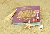 A British passport on the beach
