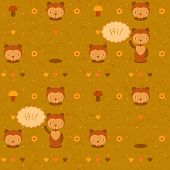vector funny seamless pattern with gophers