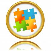 Jigsaw Puzzle. Vector.