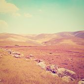 picture of samaria  - Big Stones in Sand Hills of Samaria Photo Filter - JPG