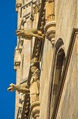 Monks and gargoyles, detail from the exterior of saint Stephen's catedral at downtown of Vienna