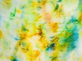 Batik - Abstract Yellow And Green Painted Pattern
