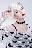 White look woman model