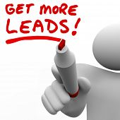 Get More Leads Sales Person Find New Customers Prospects