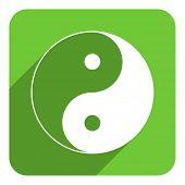 ying yang flat icon