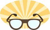 Illustration Of solar glasses
