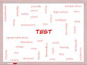 Test Word Cloud Concept On A Whiteboard