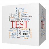 Test 3D Cube Word Cloud Concept
