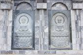 Songkhla, Thailand - April 01, 2014: The Sculpture On Temple Wall In Thailand Which Open For Public